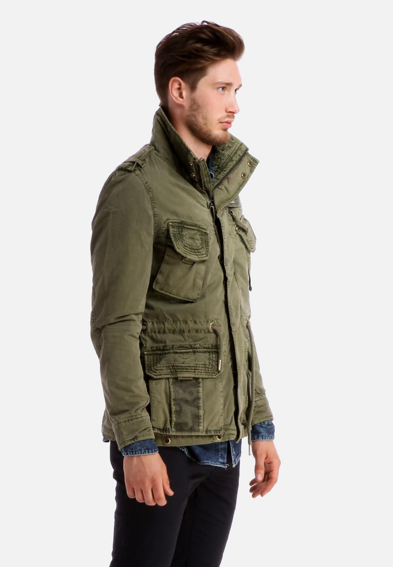 Flag Jacket Army Green Superdry Jackets Superbalist Com
