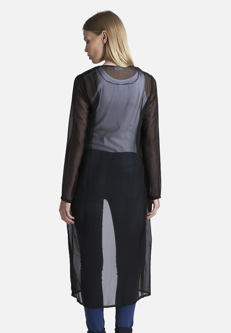 Sheer Long Jacket Black Noisy May Kimonos Superbalist Com