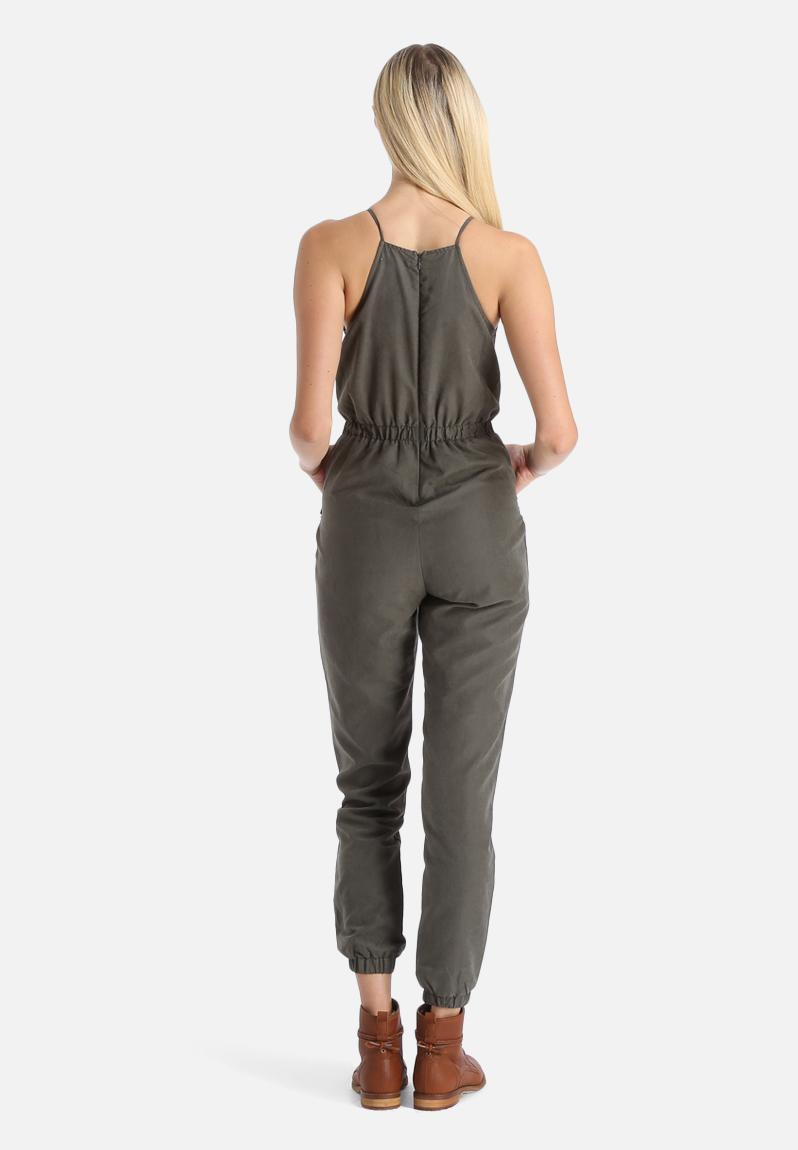 New Womens Khaki Military Jumpsuit Ladies Amazoncouk Clothing