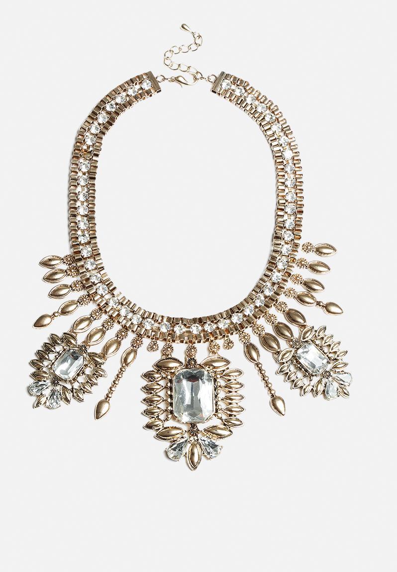 sive necklace pale gold vero moda necklaces