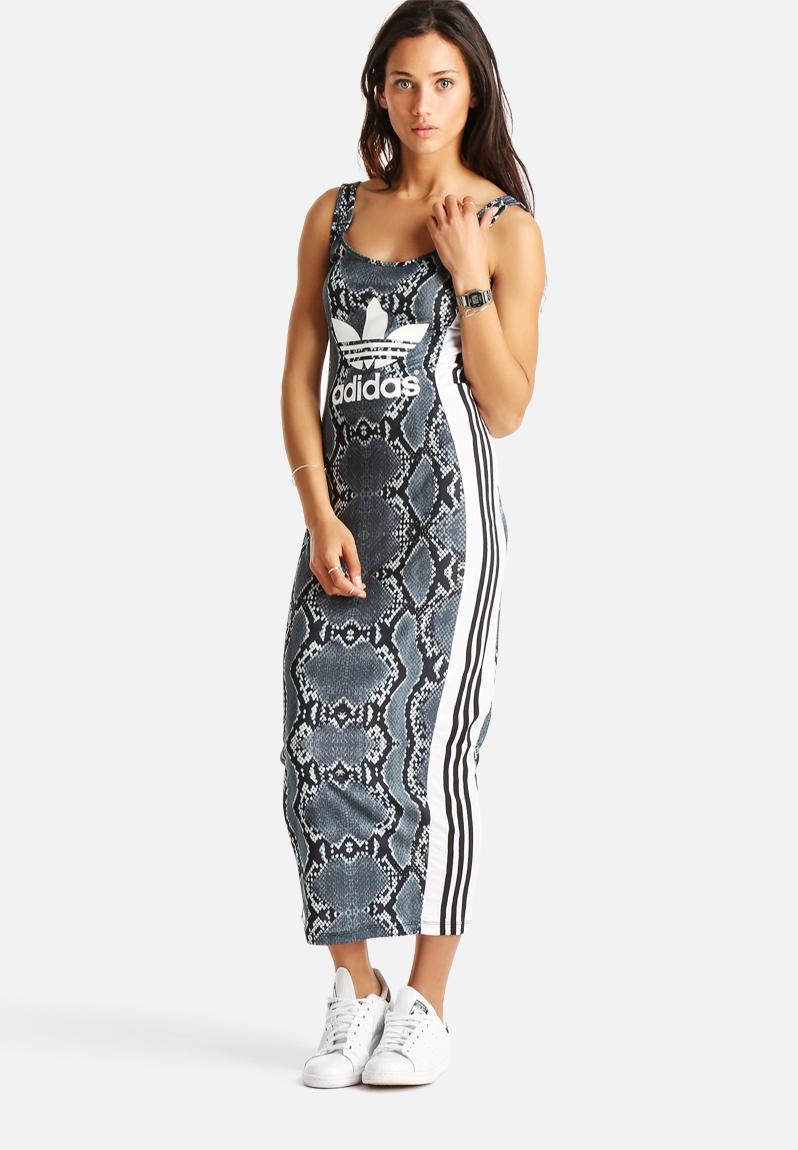 La Print Long D Multi Colour Adidas Originals Dresses