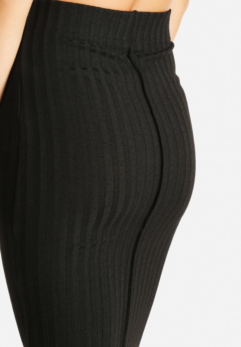 below knee skirt black noisy may skirts