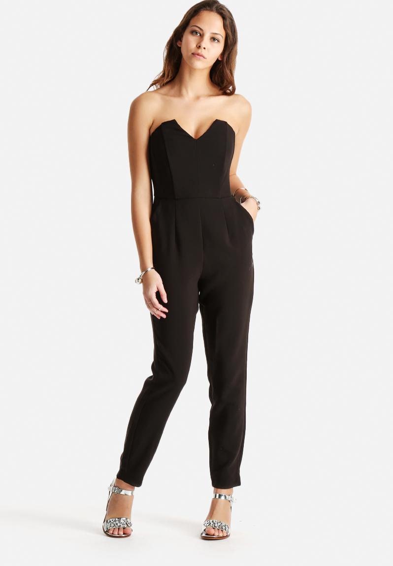 cindy bandeau jumpsuit black vero moda jumpsuits. Black Bedroom Furniture Sets. Home Design Ideas