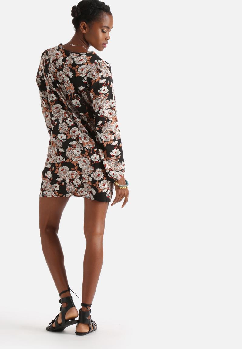 Winter Floral Tunic Dress Print Influence Dresses