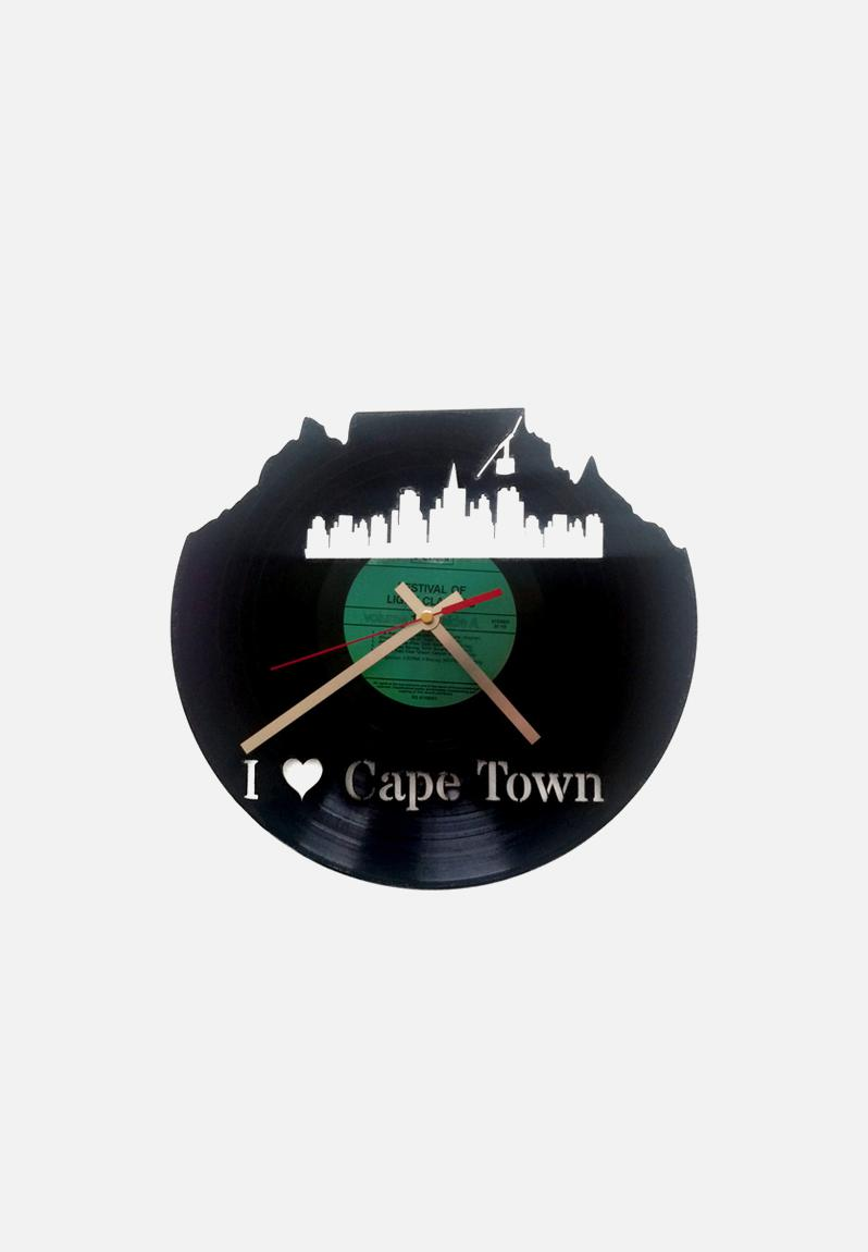 I Heart Cape Town Clock Black Uber Cool Design Decor