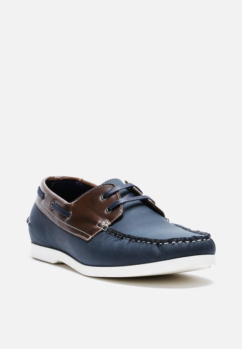 billericay boat shoe blue new look formal superbalist