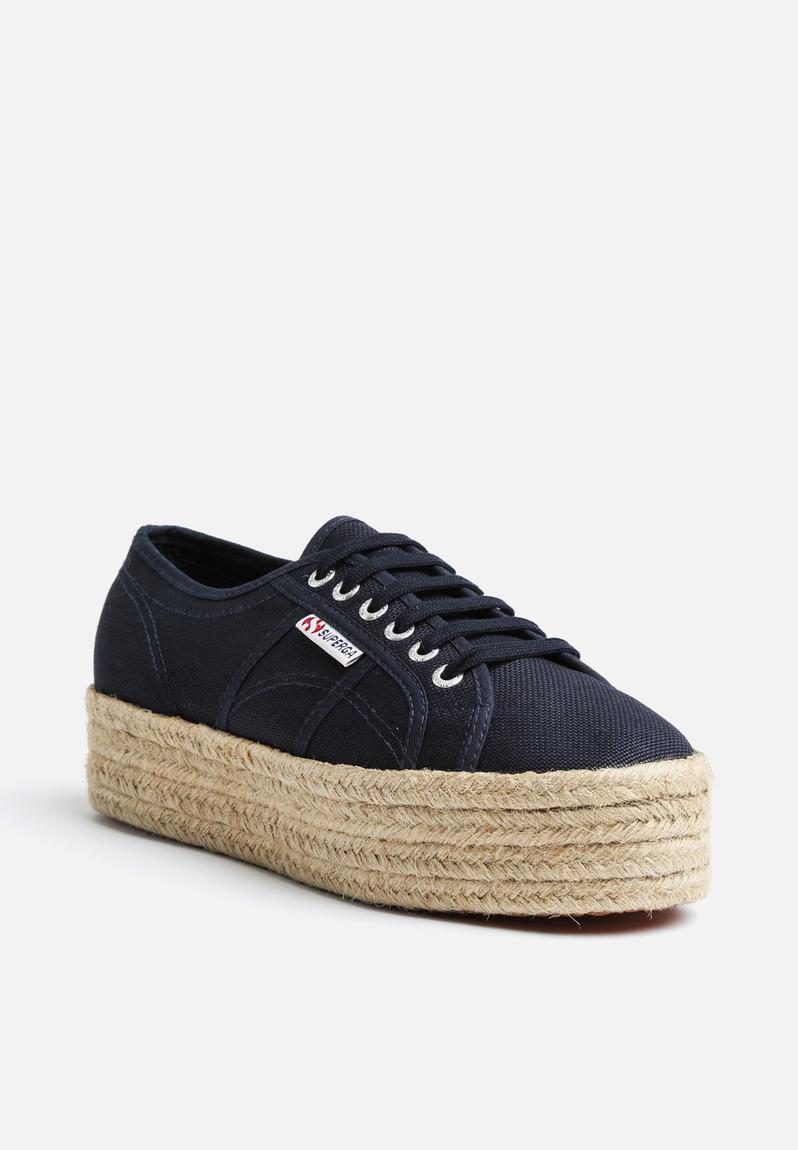 2790 Espadrille Wedge Navy Superga Sneakers